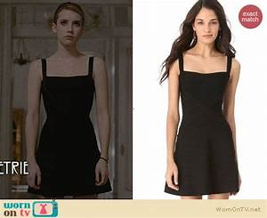WornOnTV: Madison's black square neck flared dress on ...