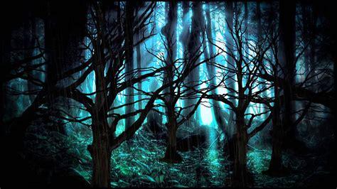Dark Forest Background With Moon Background Dark Forest Youtube