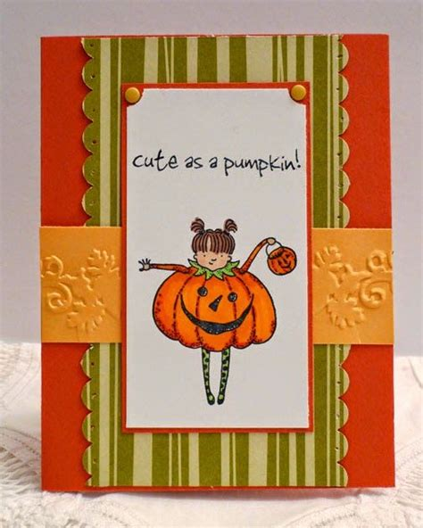 handmade halloween card  recollections stamp