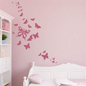 Butterfly wall decals 2017 grasscloth wallpaper for Butterfly wall decals