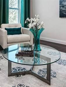 Table Haute En Verre : la table basse ronde est un l ment incontournable de l 39 int rieur ~ Teatrodelosmanantiales.com Idées de Décoration