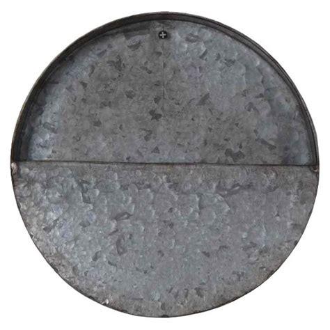 metal wall decor target 10 quot galvanized wall plantergray threshold target