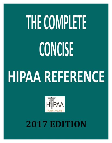 the complete privacy and security desk reference the complete concise hipaa reference book 2014