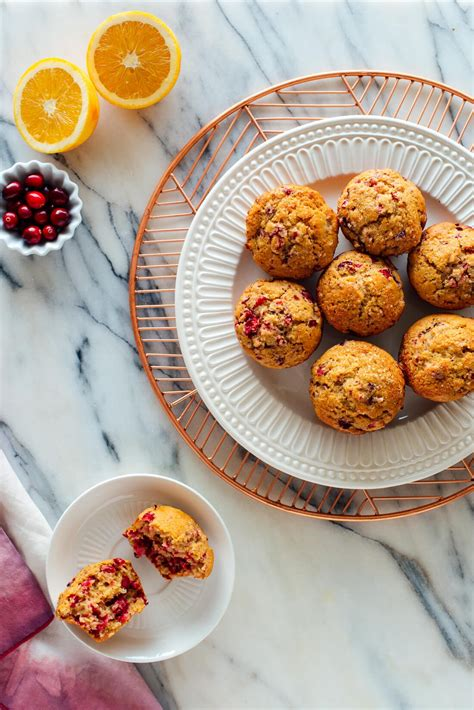 fluffy cranberry orange muffins cookie  kate