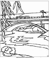 Coloring Pages Tram Tramway Landscapes Template sketch template