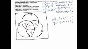 Using Venn Diagrams To Answer Survey Questions