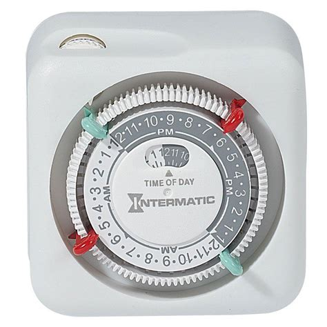 christmas light timer home depot intermatic 15 amp plug in l and appliance timer white