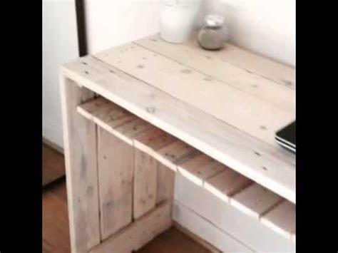 bureau en palette de bois bureau en palettes