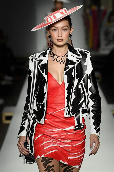 GIGI HADID at Moschino Runway Show at Milan Fashion Week ...
