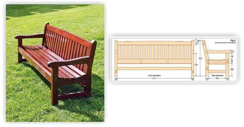 garden bench plans woodarchivist
