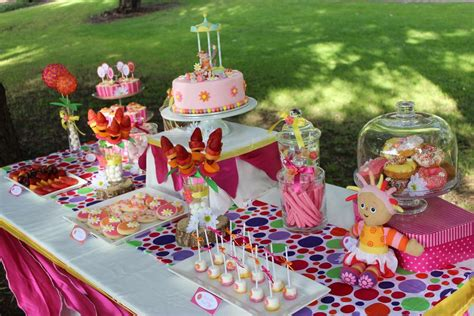 upsy daisy   night garden birthday party ideas