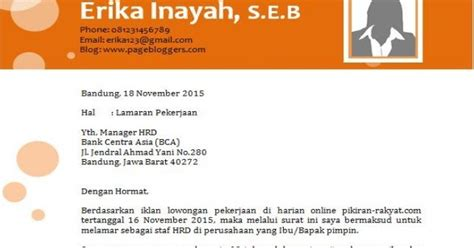 Contoh Surat Lamaran Cpns Kemenristek by Draft
