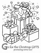 Christmas Coloring Gifts Pages Presents Gift Xmas Colouring Printable Francis Night Sheets Before Children Twas Saint Present Colour Disney Holiday sketch template