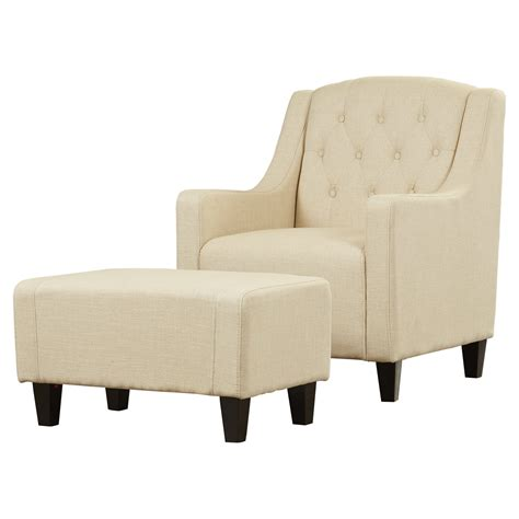 Chair With Ottoman by Three Posts Upholstered Club Arm Chair With