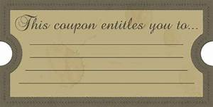 this coupon entitles you to free printables online With custom coupons free template