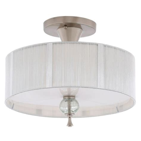 nickel semi flush ceiling lights world imports bayonne collection 3 light brushed nickel