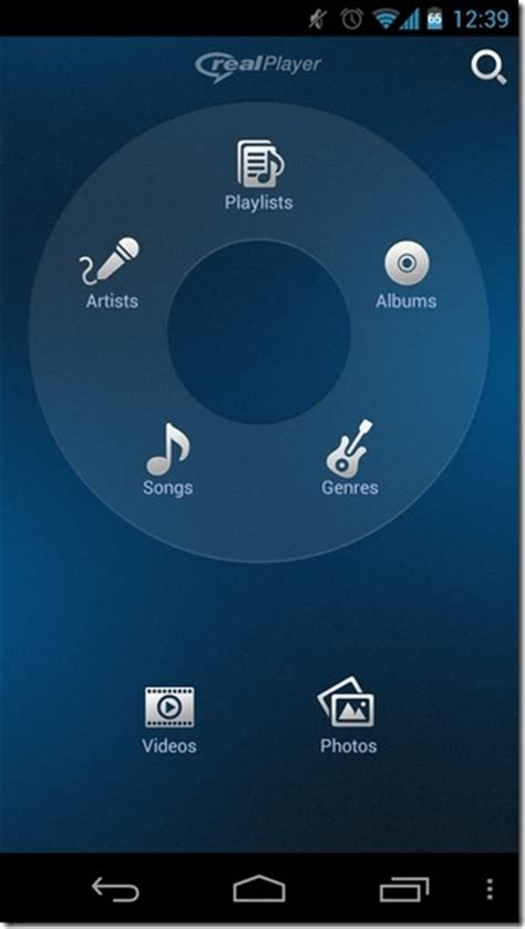 realplayer android home