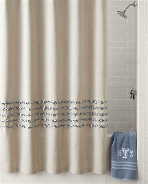 Contemporary Shower Curtain by Condotti Shower Curtain Blue Contemporary Shower