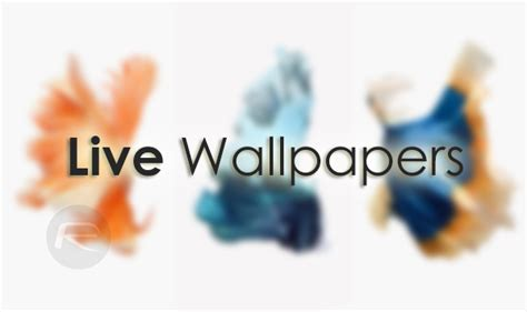 Enable Iphone 6s / 6s Plus Live Wallpapers On Iphone 6 / 6 Plus, Here's How