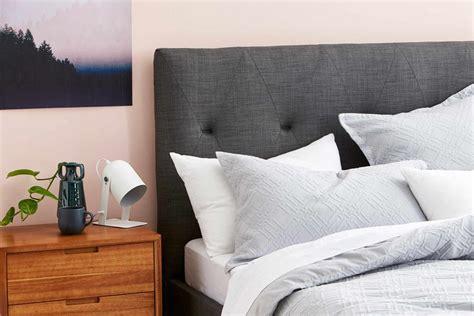 vista upholstered bed frame charcoal bedroom furniture