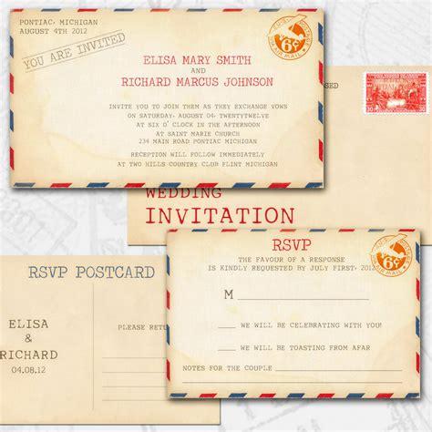 postcard invitation 25 cool diy wedding invitation