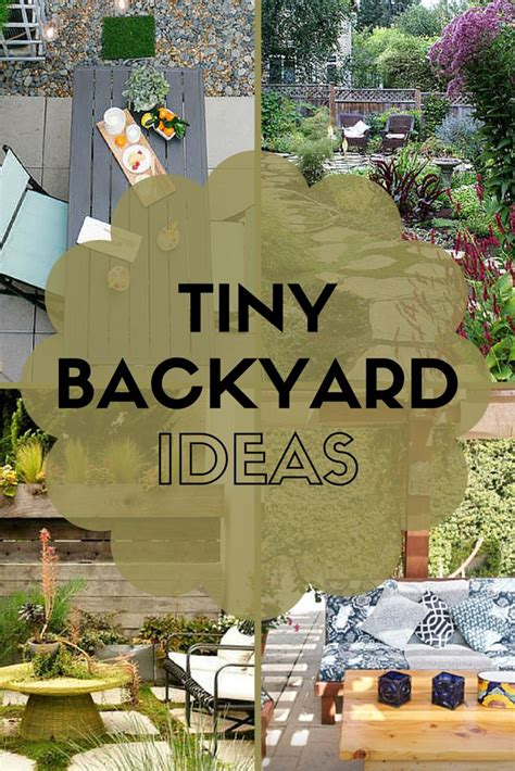 ideas  steal  real peoples tiny backyards lush