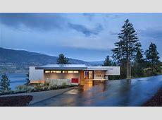 Driveway, Entrance, Evening, Lighting, Skaha Lake Home