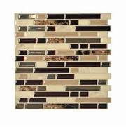 Smart Tiles Bellagio Keystone 1000 In X 1006 In Peel And Stick Mosaic Dec