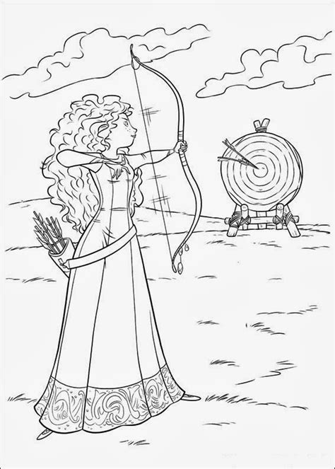 fun coloring pages brave coloring pages