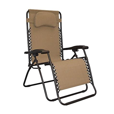 Caravan Sports Zero Gravity Chair by Caravan Canopy Oversized Beige Zero Gravity Chair
