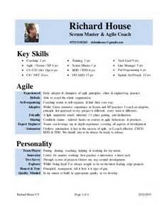 agile coach resume summary cv rich house scrum master agile coach