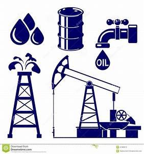 Oil Industry Icon Set Vector Illustration Stock Vector ...