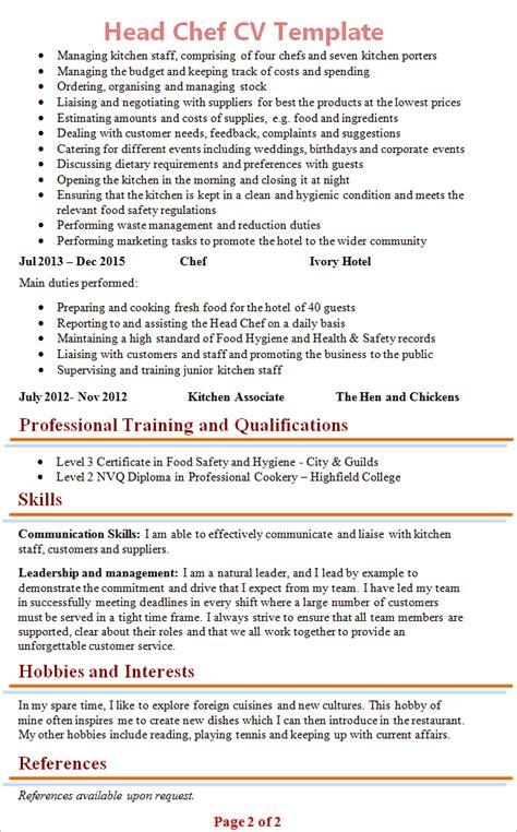 chef cv template 2