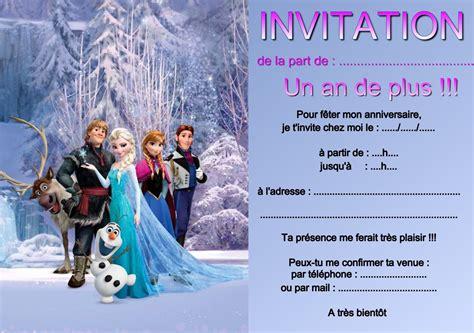 Invitation Anniversaire Reine Des Neiges A Imprimer