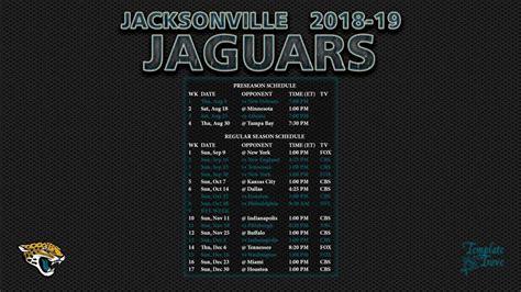 2018-2019 Jacksonville Jaguars Wallpaper Schedule