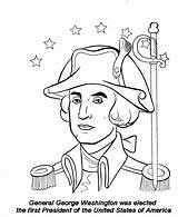 Coloring Pages July 4th Washington George President Activity Sheets Fourth Independence States United Educational Shrinks Template General Sketch Coloringtop sketch template