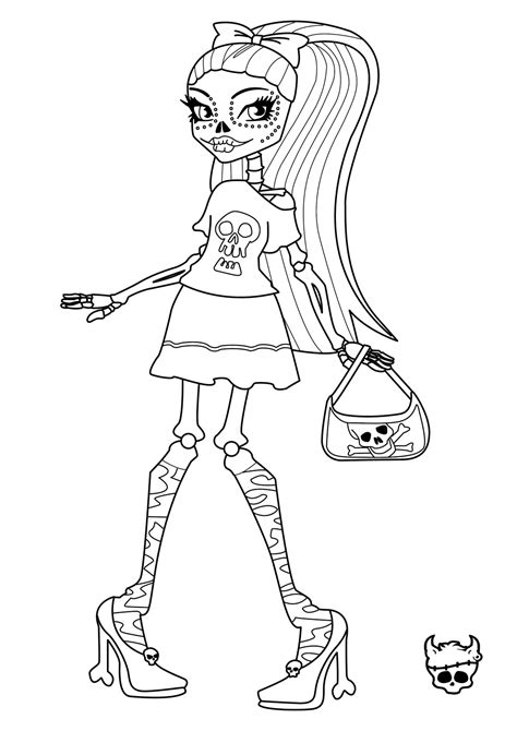 image monster high skelita coloring pagesjpg monster