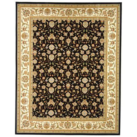black and ivory area rugs safavieh lyndhurst black ivory 9 ft x 12 ft area rug 7836