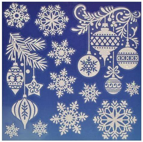 Weihnachtsdeko Fenster Bogen by 1 Bogen Fensterbilder Weihnachten Mit Glitzer
