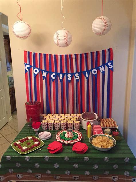 baseball themed birthday party luke  bday sports