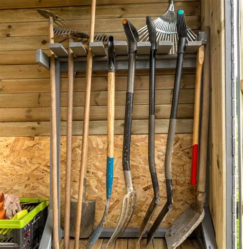 backyard tools how to organize a storage shed