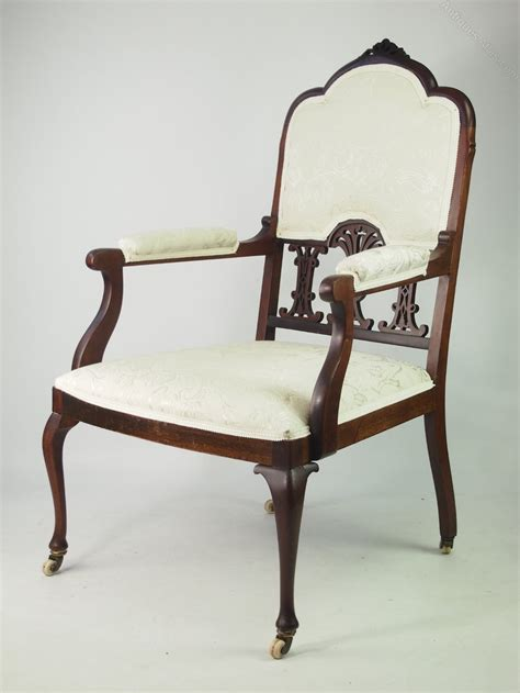 Bedroom Armchair by Edwardian Mahogany Armchair Or Bedroom Chair Antiques Atlas