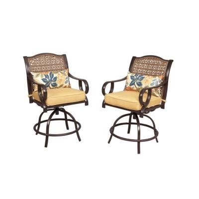 hton bay vichy springs patio high dining chair with