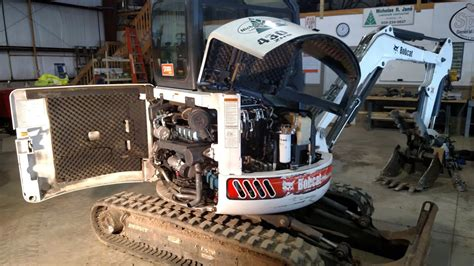 change oil  bobcat excavator youtube