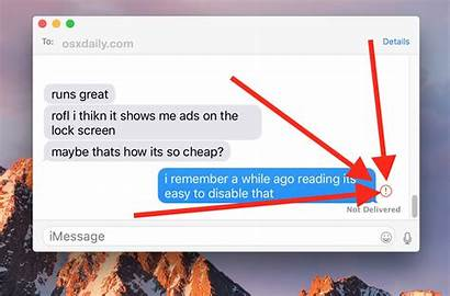 Resend Message Delivered Mac Messages Exclamation Point