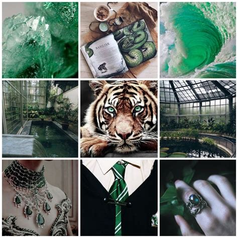 hogwarts house mood board request green aesthetic green