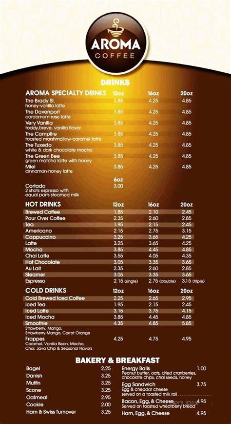 Atomic coffee bar, davenport, iowa. Menu of Aroma Coffee in Davenport, IA 52803
