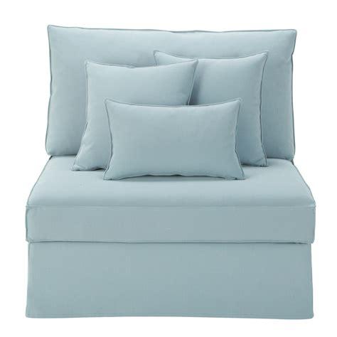 canapé bleu gris chauffeuse de canapé bleu gris enzo maisons du monde