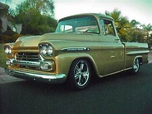 1959 Chevrolet Apache Lime Gold Lightly Customized Pickup