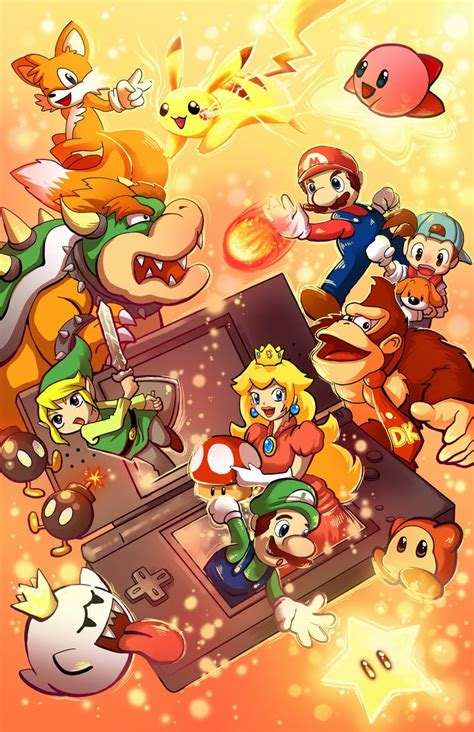 Nintendo Ds Characters Art By Michellescribbles